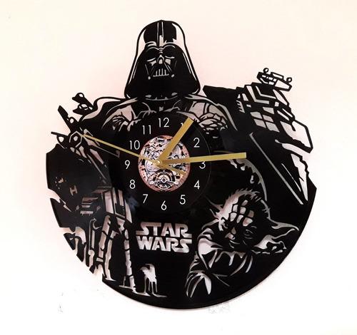 reloj disco vinilo star wars diseño original regalo