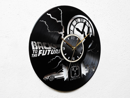 reloj  disco vinilo vinil acetato lp volver al futuro mcfly