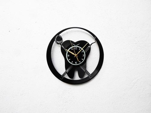 reloj disco vinilo vinil lp muela dentista clínica dental