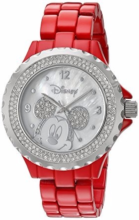 Reloj Disney Mickey Mouse Color Rojo Para Dama -   1 cf228337ca81