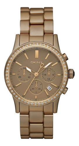 reloj dkny aluminum dark brown broadway