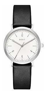 reloj dkny leather black minetta