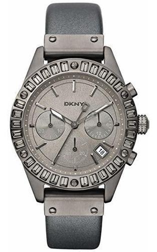 reloj dkny leather gray bowery