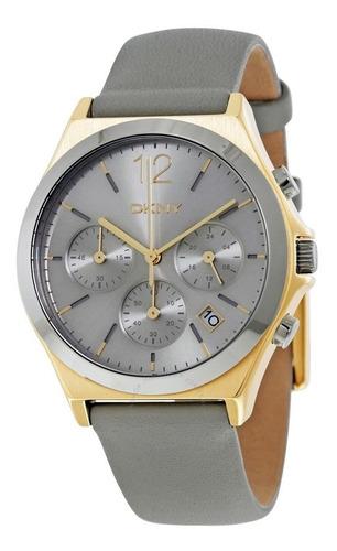 reloj dkny leather gray parsons