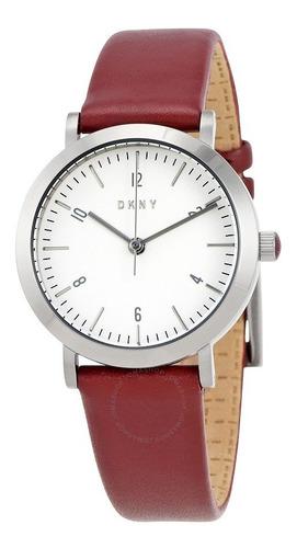 reloj dkny leather red minetta