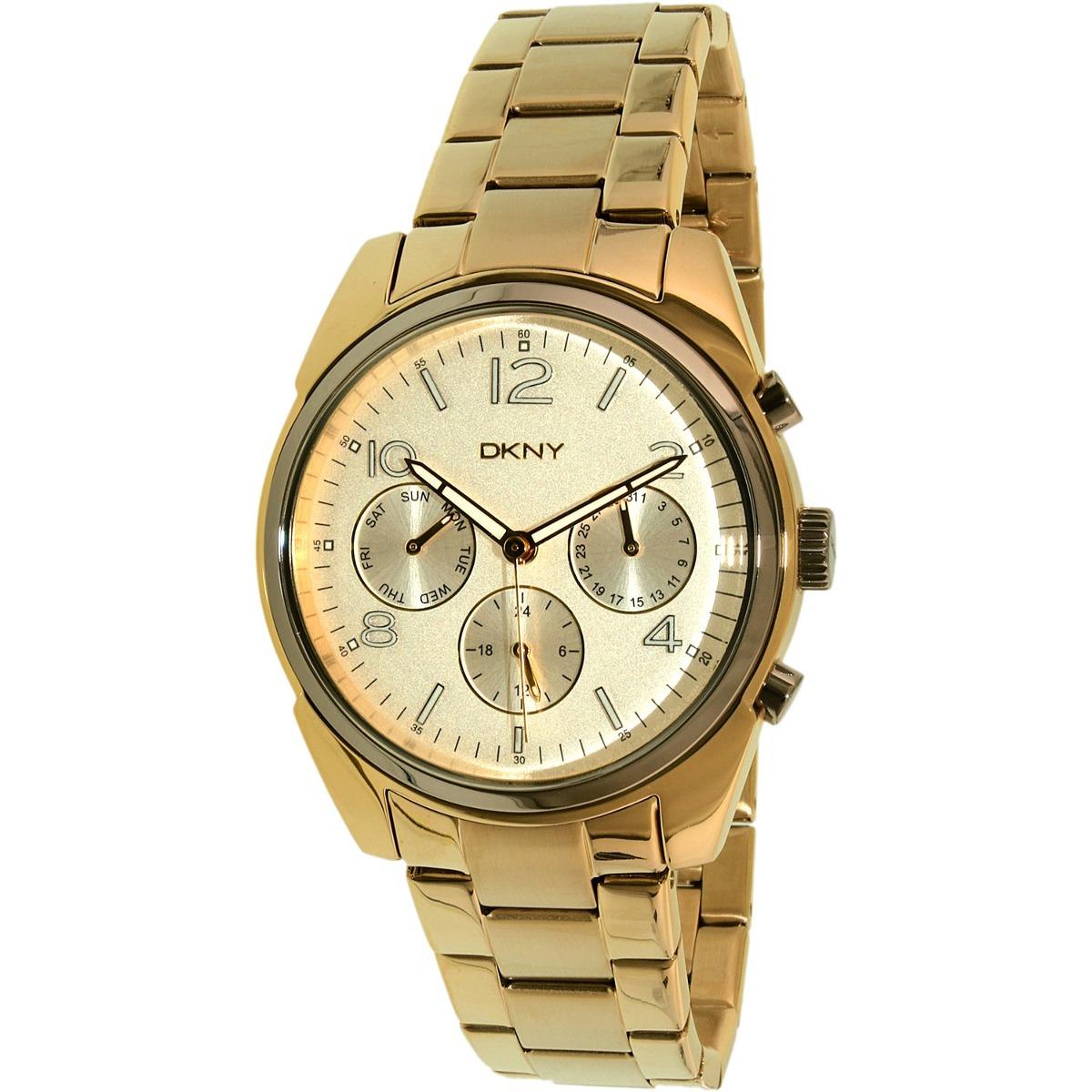 Reloj Dkny Para Mujer Ny2471 Color Dorado En Acero -   6 084ffd06789d