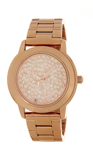 reloj dkny stainless rose gold tompkins ny8475