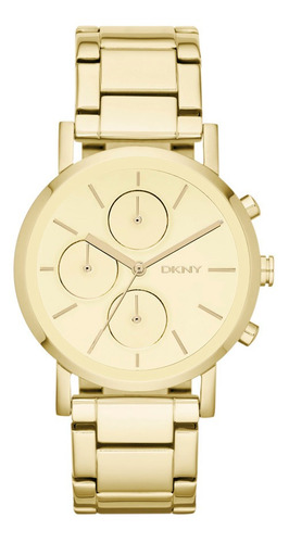 reloj dkny stainless steel gold soho