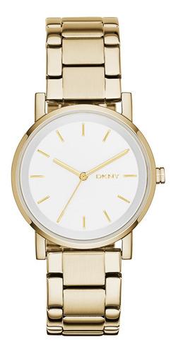 reloj dkny stainless steel gold soho