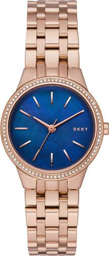 reloj dkny stainless steel rose gold park slope