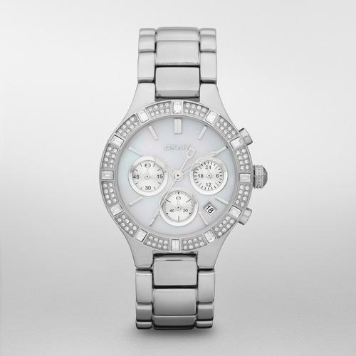 reloj dkny stainless steel silver/steel chambers