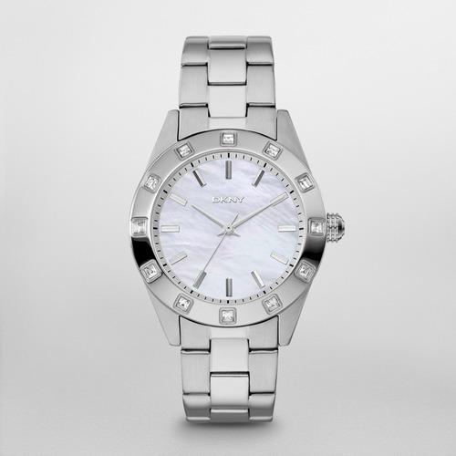 reloj dkny stainless steel silver/steel jitney