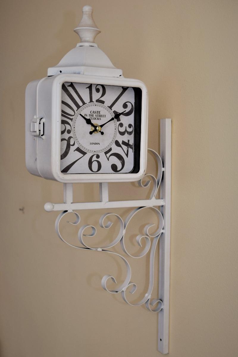 Reloj Doble Cara Vintage Hojalata Estacion 190 000 En Mercado  # Muebles Hojalata