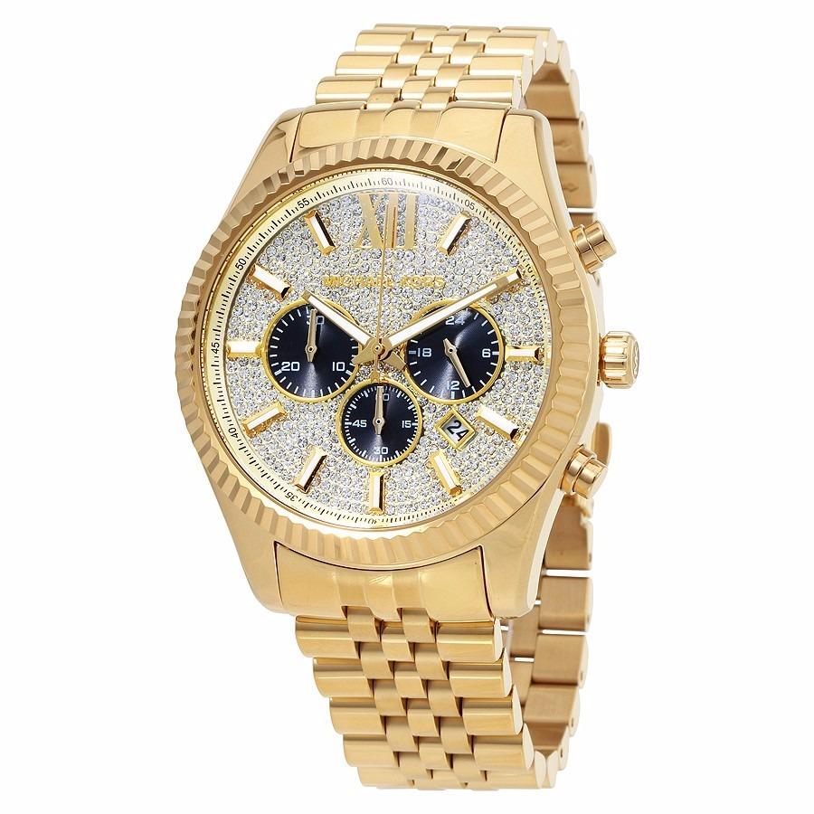 Michael Kors Reloj Lexington Pavé Dorado Mk8494 0OPwnk