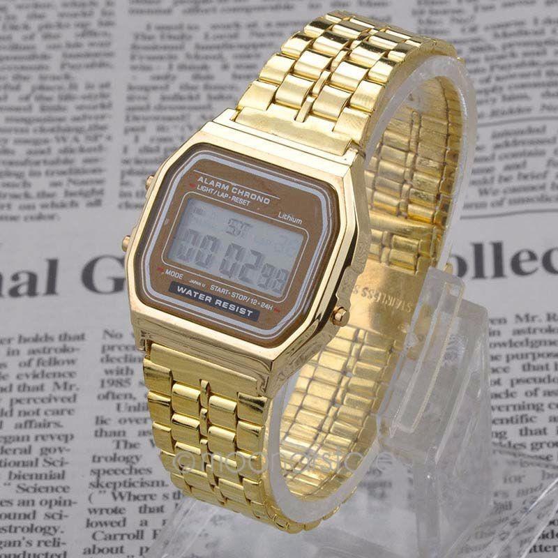 10058fa83191 Reloj Dorado Mujer Digital Clasico Nueva Moda Retro Elegant -   12.500 en  Mercado Libre