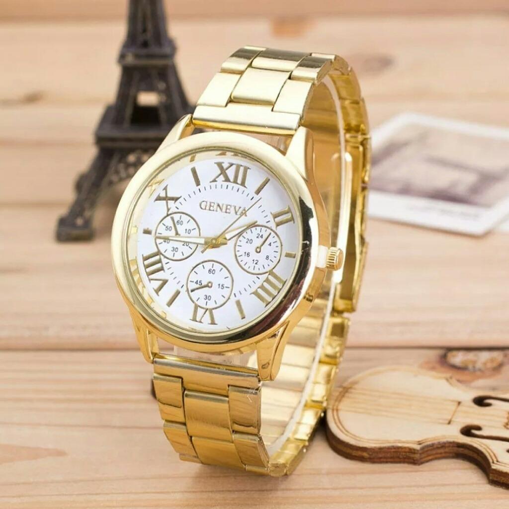 596c4271d8b8 reloj dorado para dama variedad de marcas. Cargando zoom.