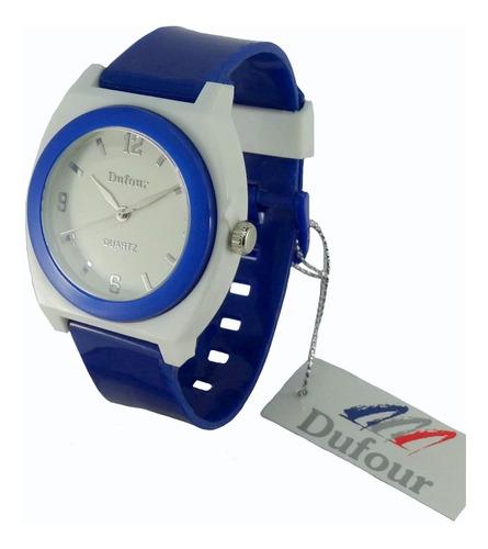 reloj dufour caucho sumergible original colores garantía of