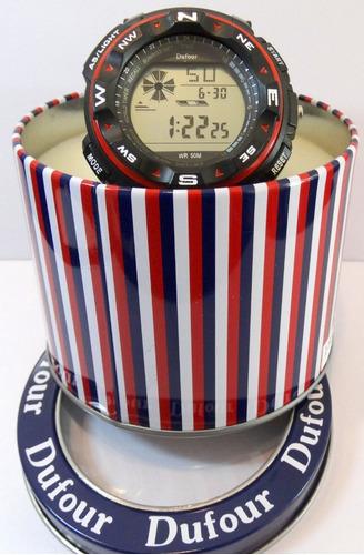 reloj dufour sport 2 cronografo alarma wr 50m  garantía ofic