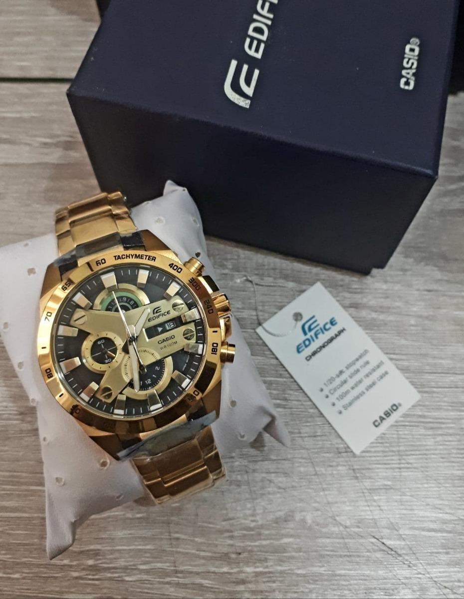 bb82d4896c2a Reloj Edifice Efr 540 Gold Oro Edicion Especial Precio Lujo -   259.990 en  Mercado Libre