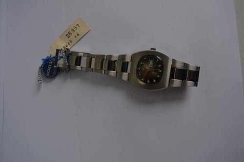reloj edox diamatic hombre suizo nos automatico 1970