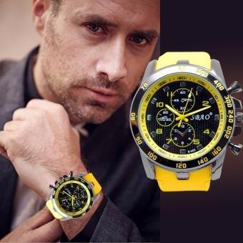 reloj elegante-casual para hombre - amarillo