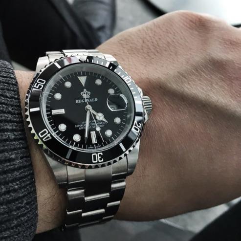 99d6d9d1ac5d Reloj Elegante De Lujo Acero Inoxidable Hombre Reginald - S  159