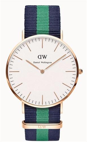 reloj elegante fashion estilo daniel wellington sport