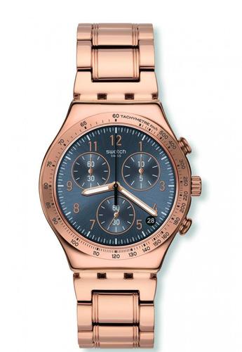 reloj elegantum dorado swatch