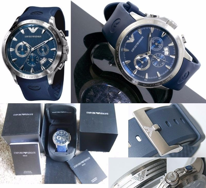 c444ecafe Reloj Emporio Armani Ar0649 Azul Sellado Nuevo En Caja - S/ 549,99 ...