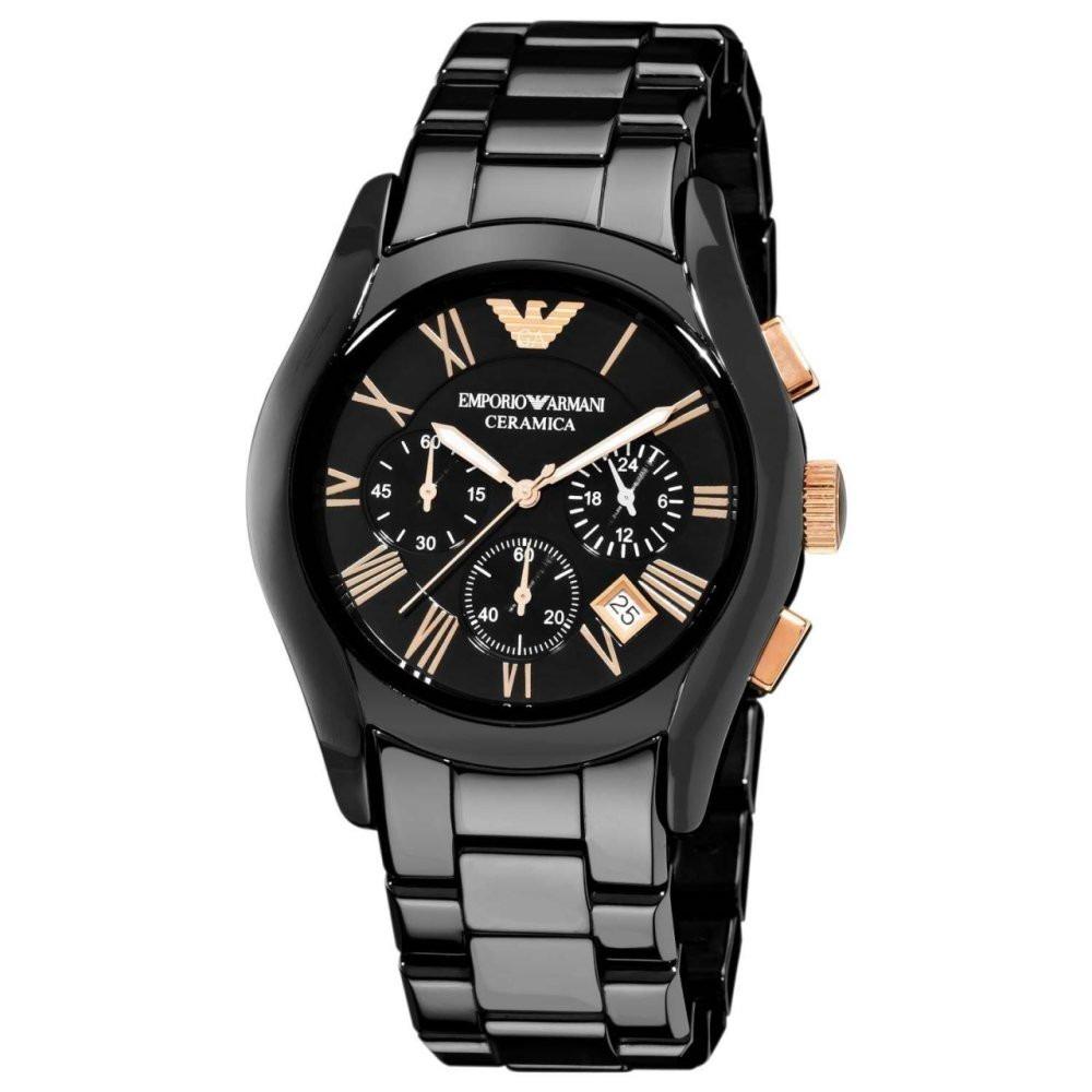 22b386e844e reloj emporio armani ar1410 - ceramica negro. nuevo en caja. Cargando zoom.