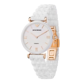 Ar1486 Perla Dama Reloj Armani Ceramica Blanco Emporio Madre SVLUzpGqM