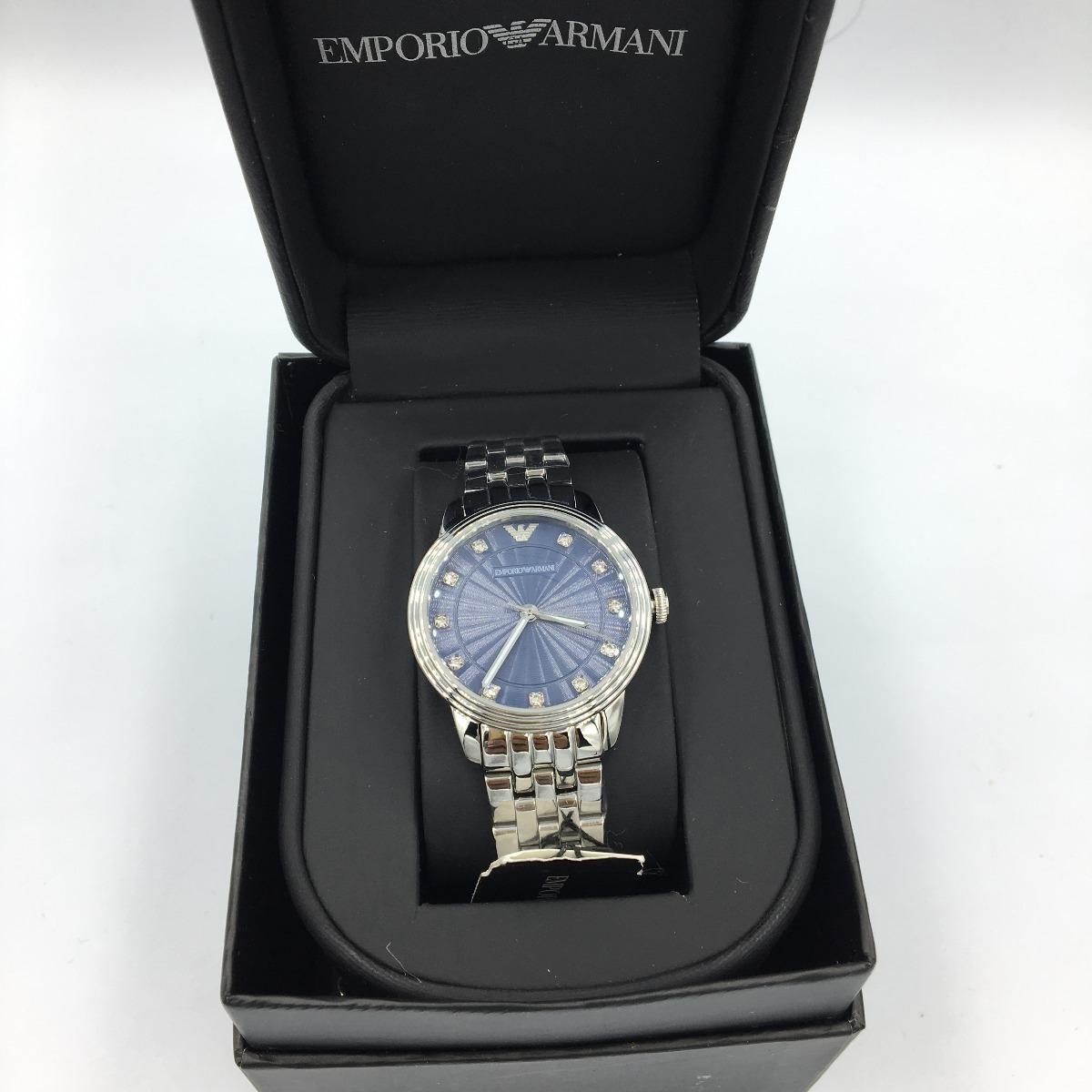 6454a36dd Reloj Emporio Armani Ar1653 Plateado-azul Envi Gratis Hombre ...