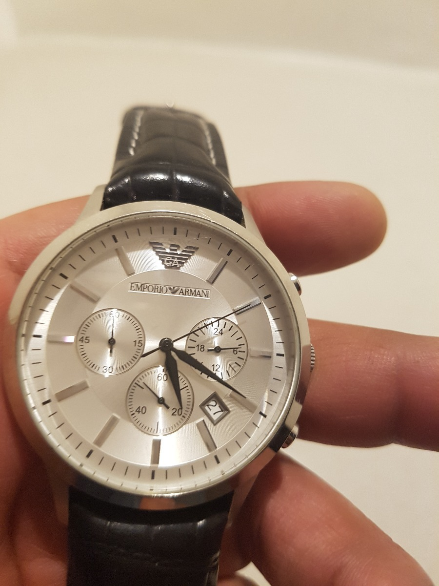 f76ac986fc93 Reloj Emporio Armani Ar2432 Piel Negra