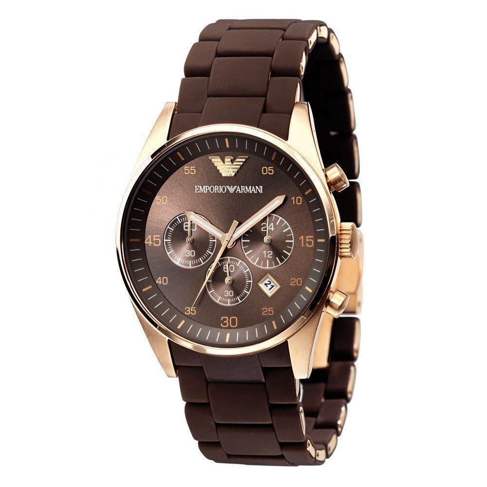 5861a99e19d6 reloj emporio armani ar5890 para hombre - marrón original. Cargando zoom.