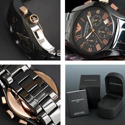 reloj emporio armani cerámica ar1410 nuevo sellado