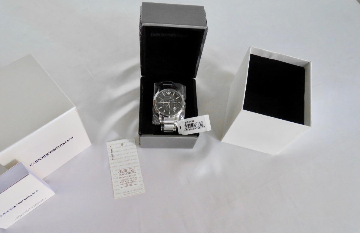 1320ab8a4505 reloj emporio armani classic chronograph ar2434 100%. Cargando zoom.