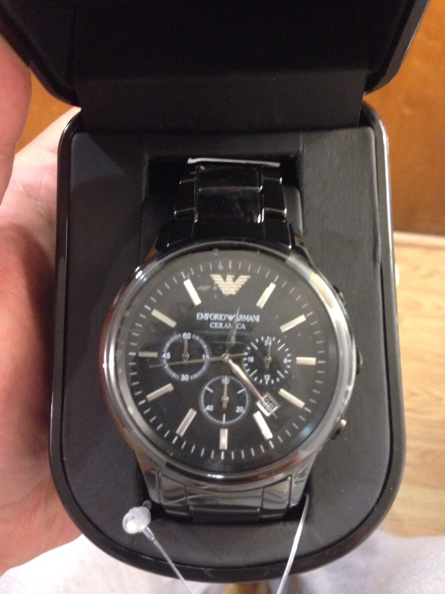 dc295abd567 reloj emporio armani de cerámica negro ar1474. Cargando zoom.