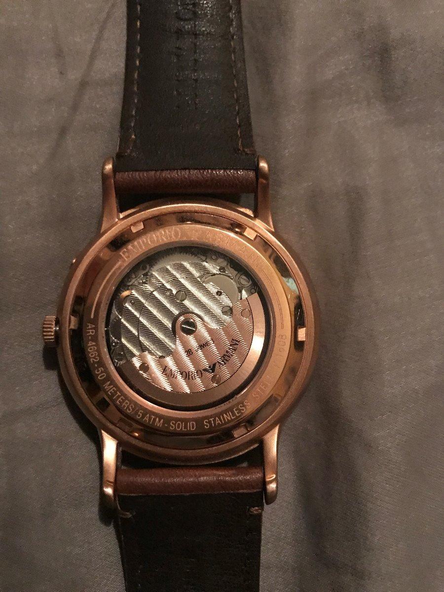 1d6da2469372 reloj emporio armani hombre automatico dorado. Cargando zoom.