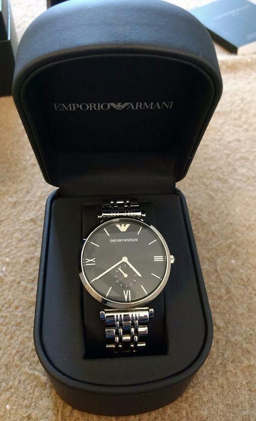 f20ab19903da Reloj Emporio Armani Mod.ar1676 Caballero Unitalla Plata neg ...