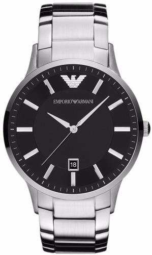 reloj emporio armani negro acero inoxidable ar2457