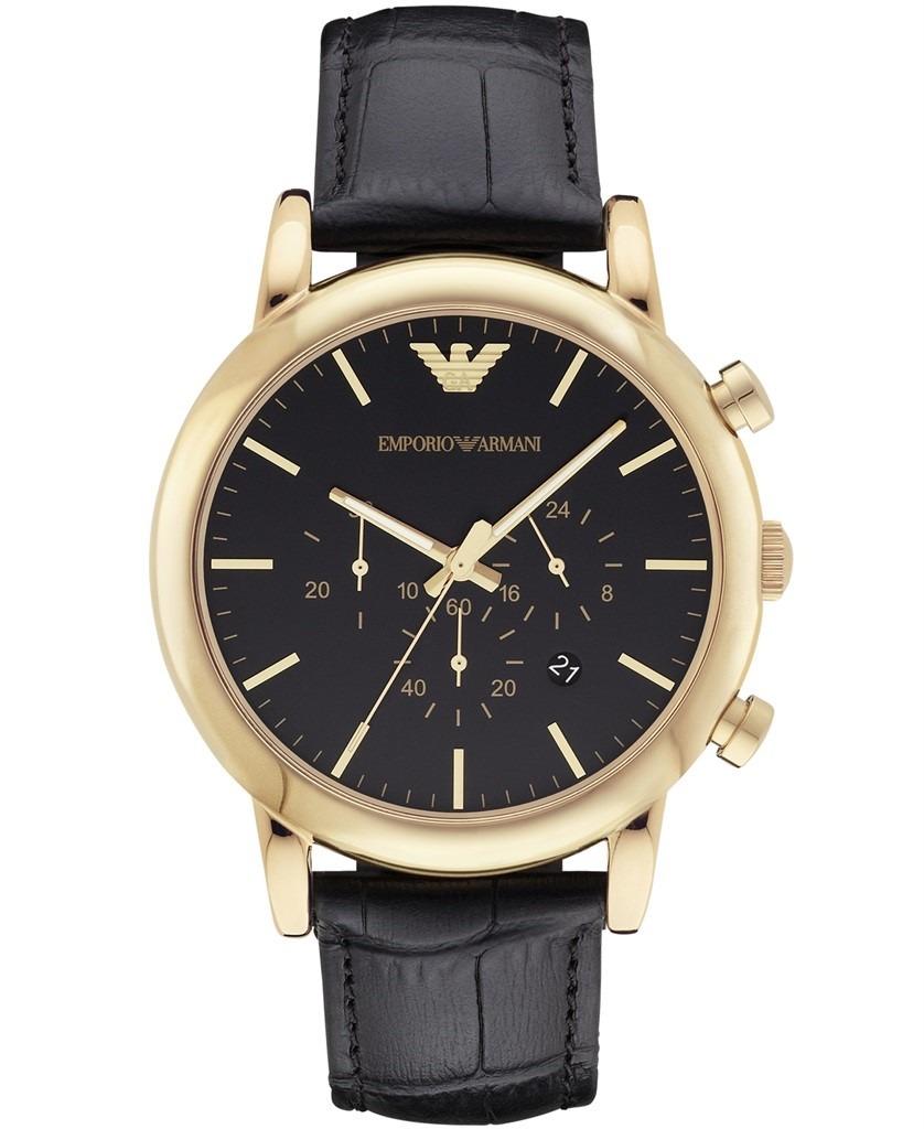 5f2b2b7cf5eb reloj emporio armani original hombre cuero color oro ar1917. Cargando zoom.