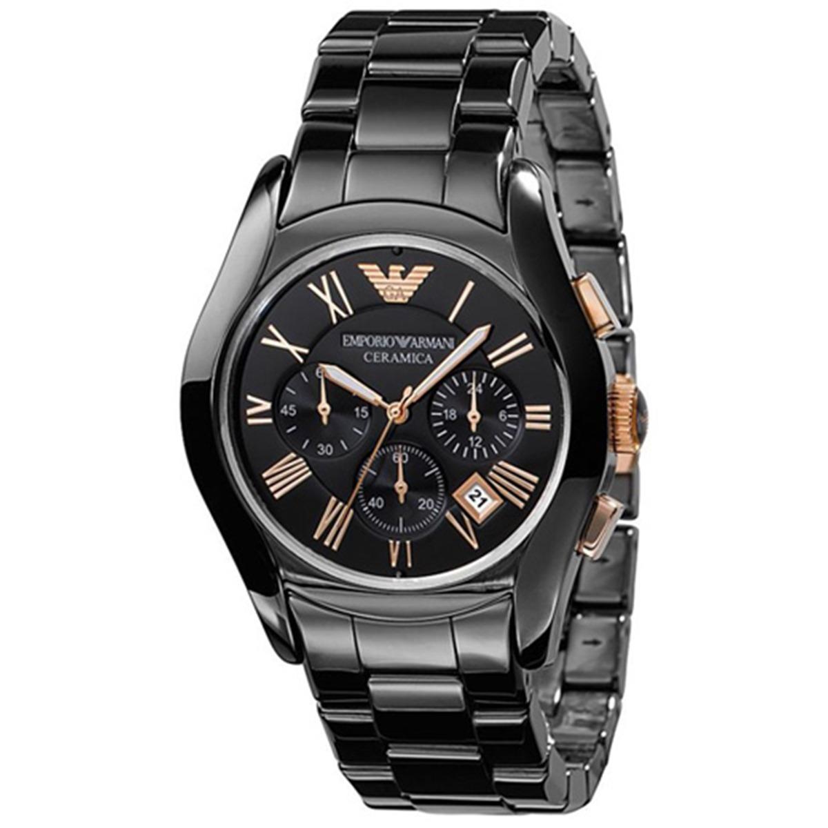 5a70f35101cc reloj emporio armani para hombre ar1410 negro cerámica de. Cargando zoom.