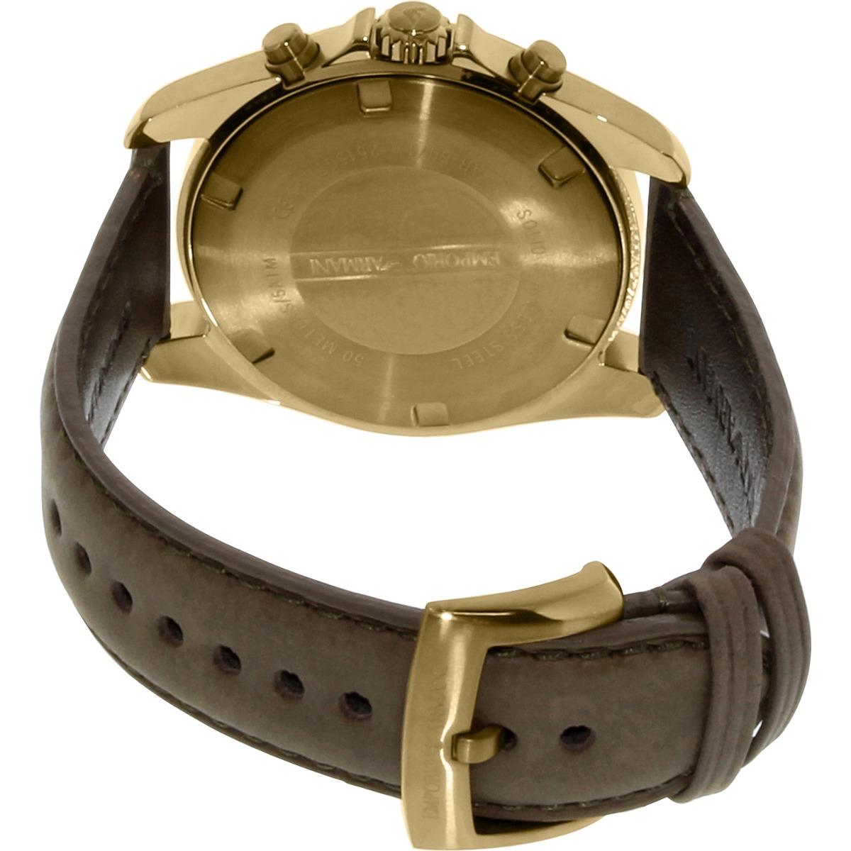 eeefc3b47ad2 reloj emporio armani para hombre ar6071 con correa de cuero. Cargando zoom.