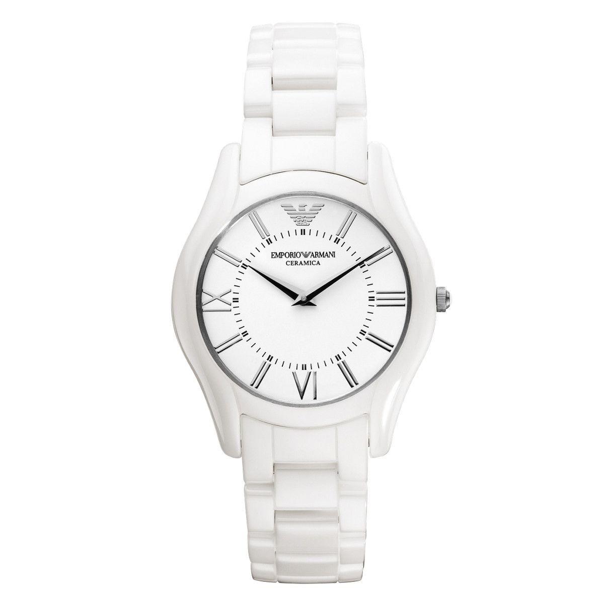 270d9870bbb8 reloj emporio armani para mujer ar1443 plateado y blanco. Cargando zoom.