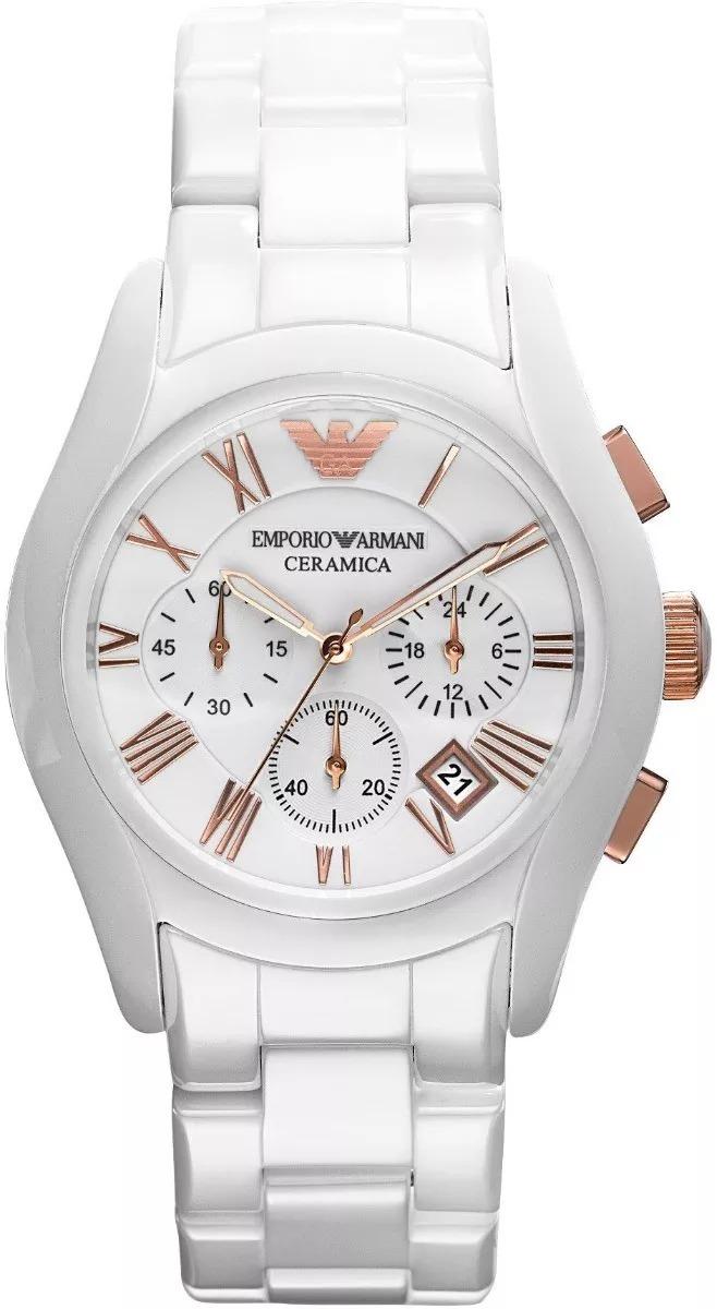 bbb16bd2f472 reloj emporio armani unisex blanco cerámica ar1416-original. Cargando zoom.