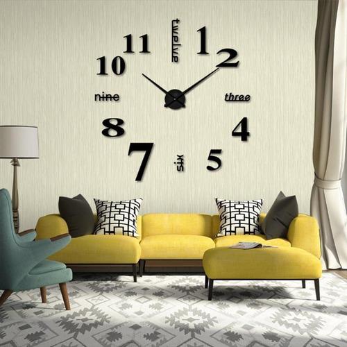 reloj en la pared 3 pzs  45*45cm números diseño decorativo