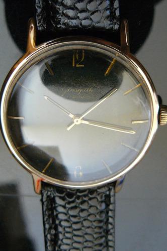 reloj en oro aleman glashutte grande 37mm a cuerda 17 rubis