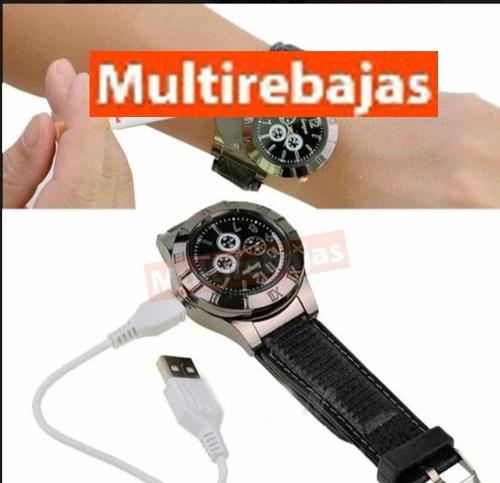 reloj encendedor de cigarrillos recargable usb fosforera