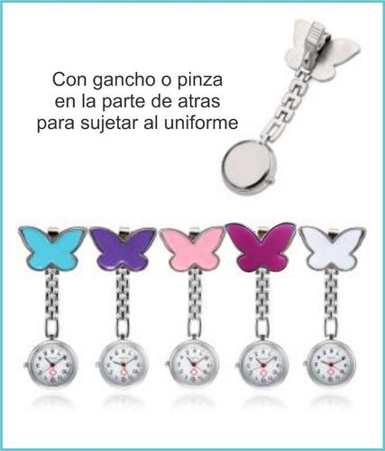 reloj  enfermera de  mariposa para colgar