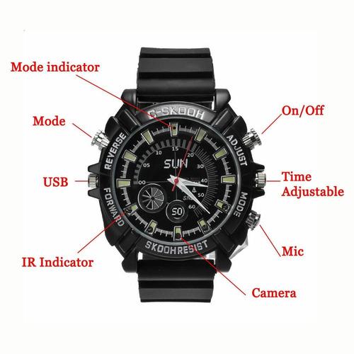 reloj espia 32gb vision nocturna full hd 1080p